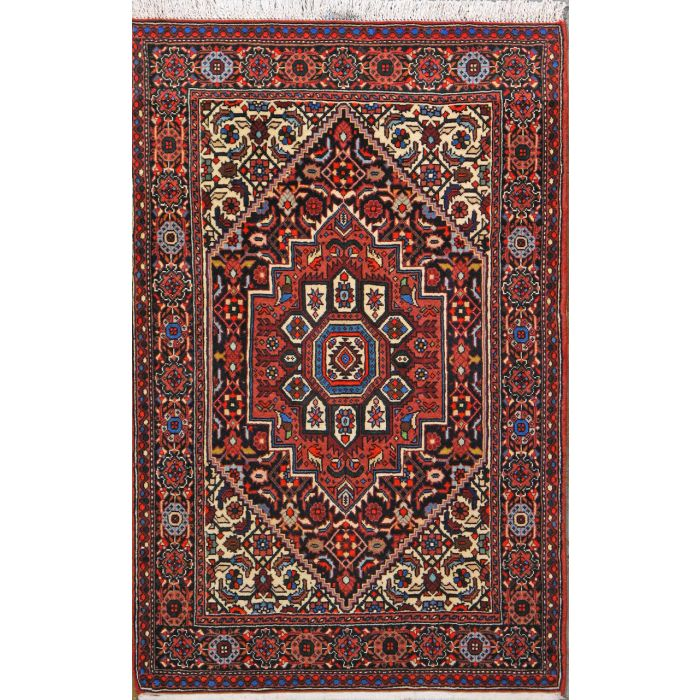 """https://www.armanrugs.com/   2' 8"""" x 4' 2"""" Brown Bijar Hand Knotted Wool Authentic Persian Rug"""