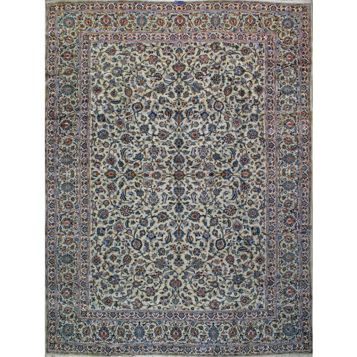 """https://www.armanrugs.com/   9' 10"""" x 13' 3"""" Green Kashan Hand Knotted Wool Authentic Persian Rug"""