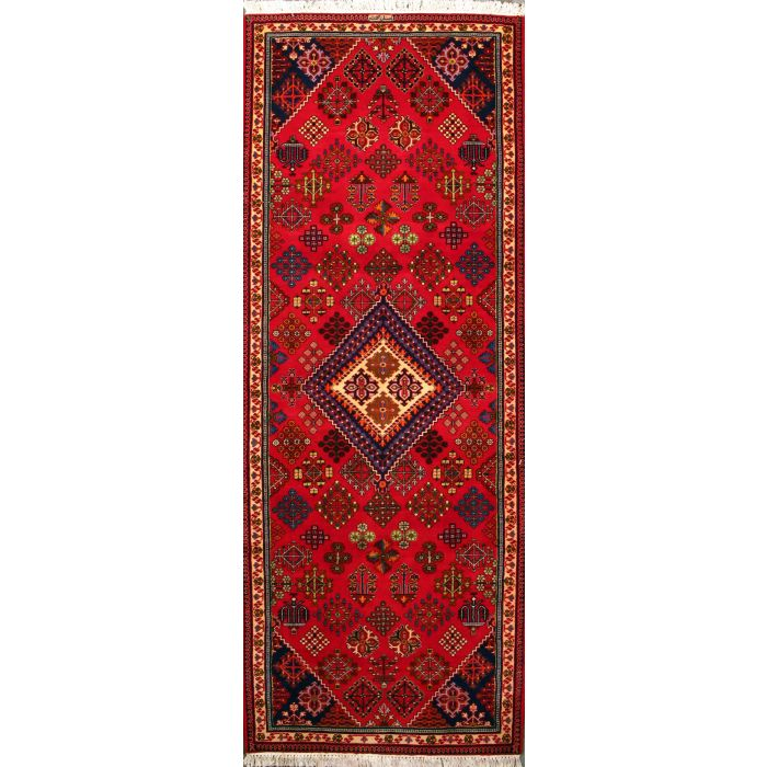 """https://www.armanrugs.com/   3' 9"""" x 10' 2"""" Red Maymeh Hand Knotted Wool Authentic Runner Persian Rug"""