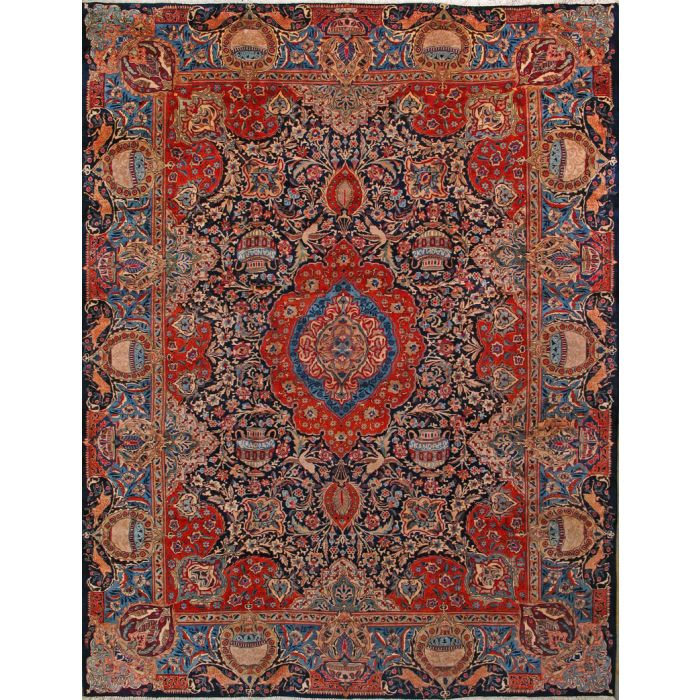 "https://www.armanrugs.com/ | 9' 10"" x 12' 8"" Red kashmar Hand Knotted Wool Authentic Persian Rug"