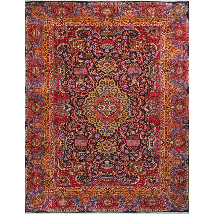 """https://www.armanrugs.com/   9' 8"""" x 12' 8"""" Red kashmar Hand Knotted Wool Authentic Persian Rug"""