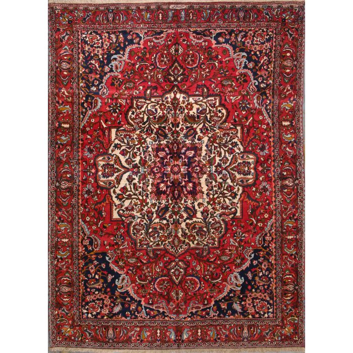 """https://www.armanrugs.com/   7' 2"""" x 10' 0"""" Red Bakhtiari Hand Knotted Wool Authentic Persian Rug"""