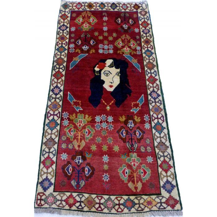 "https://www.armanrugs.com/   2' 11"" x 6' 3"" Red Shiraz Handmade Wool Authentic Persian Rug"