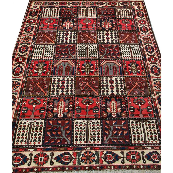 """https://www.armanrugs.com/   6' 9"""" x 10' 1"""" Brown Bakhtiari Hand Knotted Wool Authentic Persian Rug"""