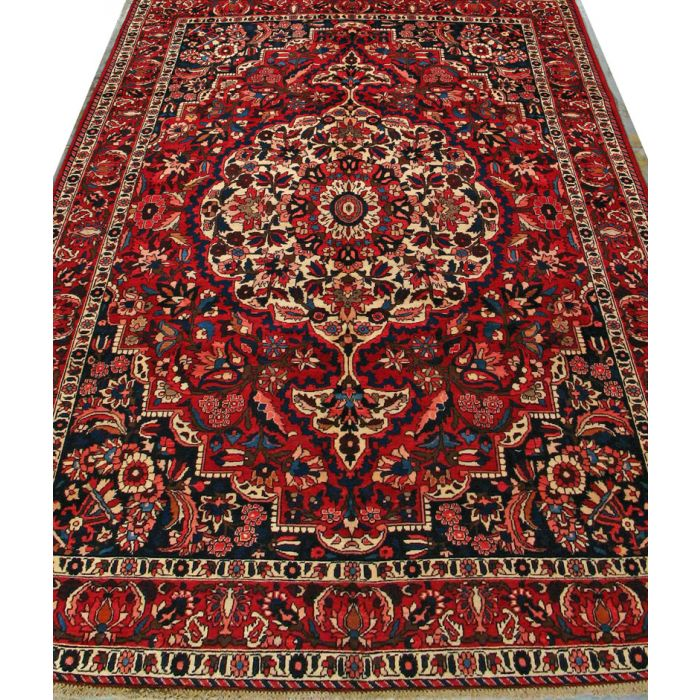 """https://www.armanrugs.com/   7' 0"""" x 10' 3"""" Red Bakhtiari Hand Knotted Wool Authentic Persian Rug"""