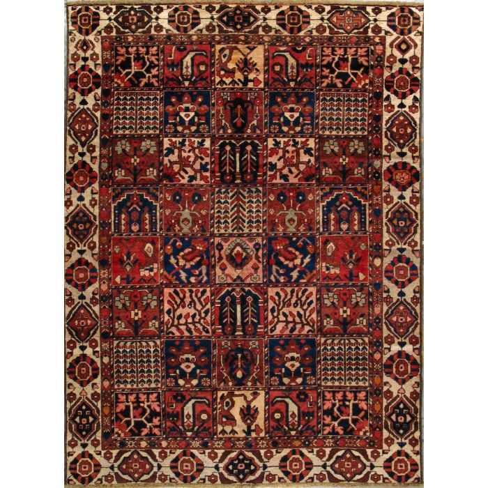 """https://www.armanrugs.com/   6' 7"""" x 9' 0"""" Red Bakhtiari Hand Knotted Wool Authentic Persian Rug"""