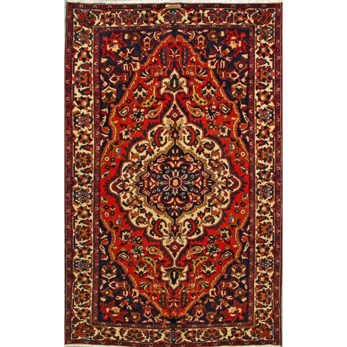 """https://www.armanrugs.com/   6' 3"""" x 10' 0"""" Red Bakhtiari Hand Knotted Wool Authentic Persian Rug"""