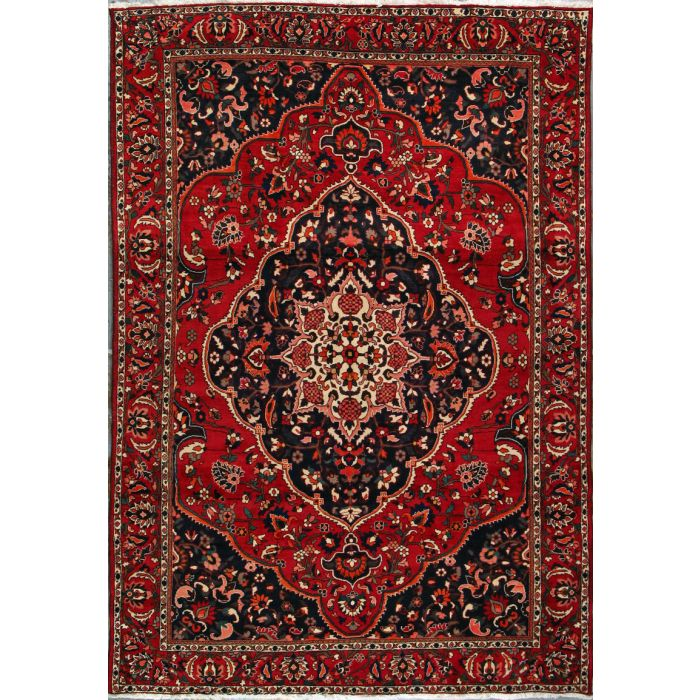 "https://www.armanrugs.com/ | 6' 11"" x 9' 7"" Red Bakhtiari Hand Knotted Wool Authentic Persian Rug"