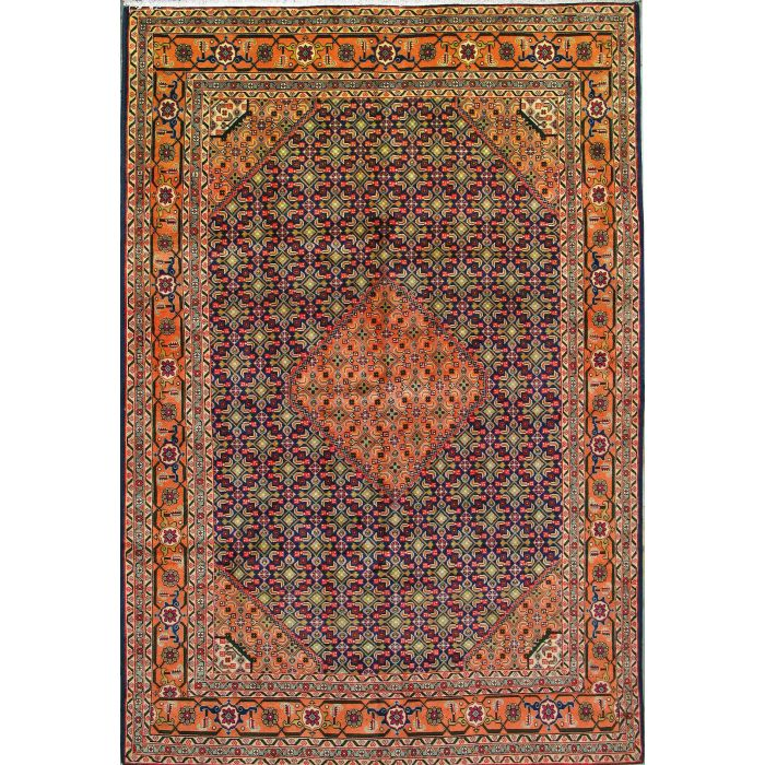 "https://www.armanrugs.com/ | 6' 6"" x 9' 8"" Red Ardabil Hand Knotted Wool Authentic Persian Rug"