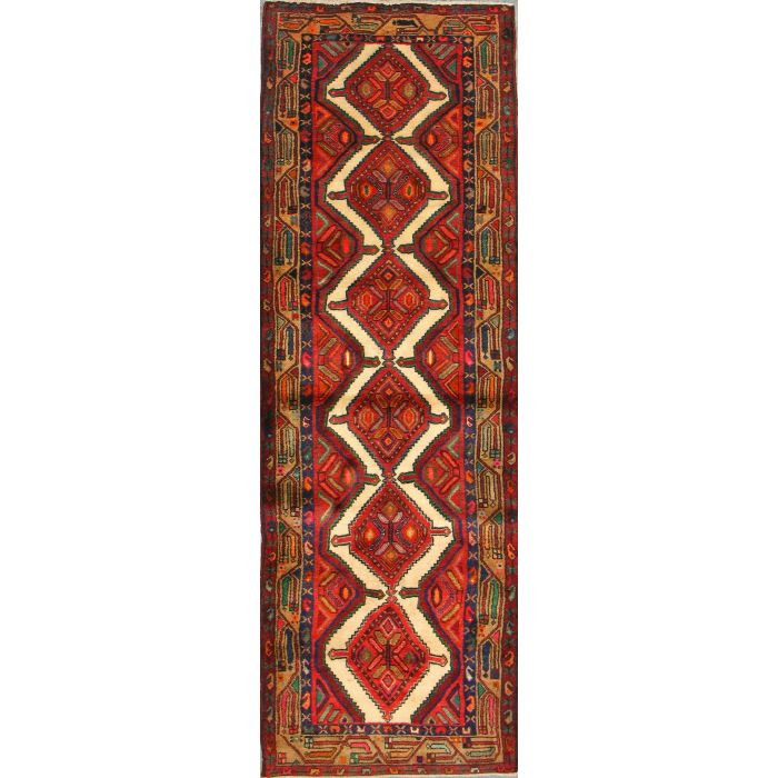 """https://www.armanrugs.com/   2' 9"""" x 8' 10""""  Hamadan Hand Knotted Wool Authentic Runner Persian Rug"""