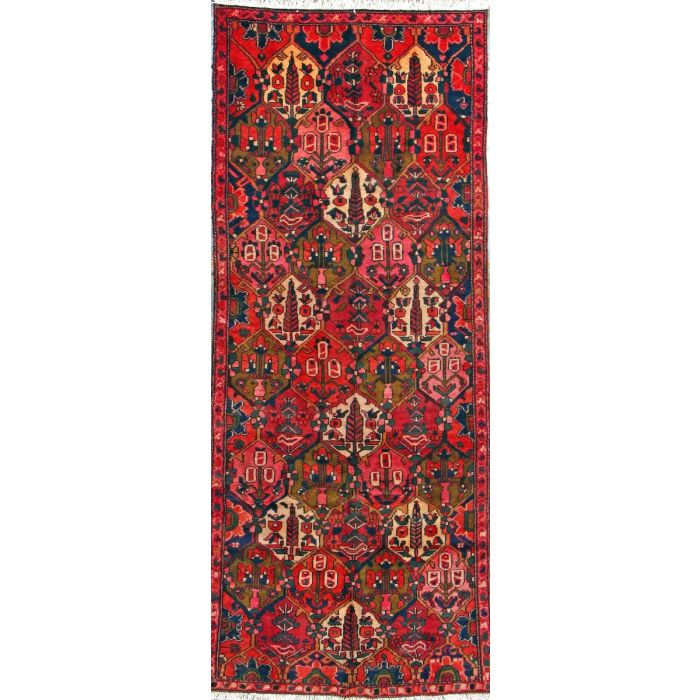 "https://www.armanrugs.com/ | 3' 5"" x 8' 8"" Red Bakhtiari Hand Knotted Wool Authentic Persian Rug"