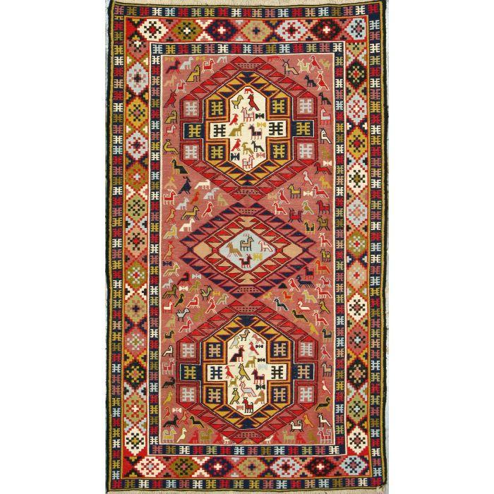 "https://www.armanrugs.com/   3' 9"" x 6' 8""  kilim Handmade Wool Authentic Persian Rug"