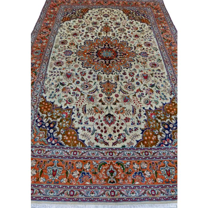 "https://www.armanrugs.com/ | 6' 8"" x 9' 9"" Beige Tabriz Handmade Wool Authentic Persian Rug"