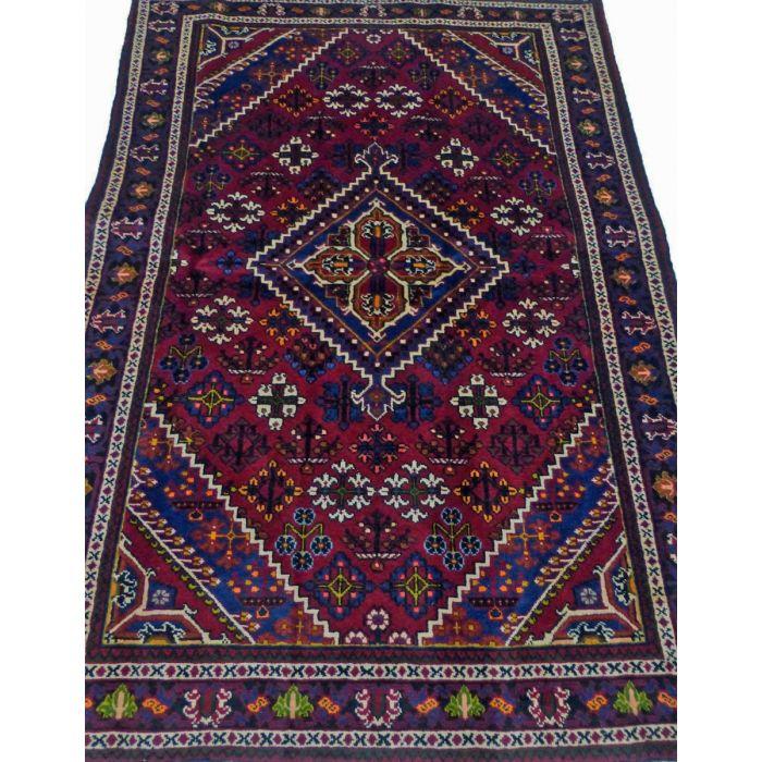 "https://www.armanrugs.com/   4' 3"" x 6' 11"" Red Josheghan Handmade Wool Authentic Persian Rug"