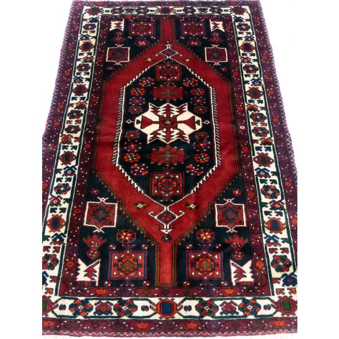 "https://www.armanrugs.com/ | 4' 6"" x 6' 9"" Red Shiraz Handmade Wool Authentic Persian Rug"