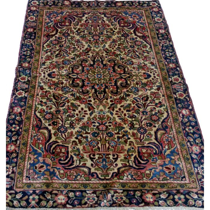 "https://www.armanrugs.com/   4' 6"" x 6' 11"" Beige Hamadan Handmade Wool Authentic Persian Rug"