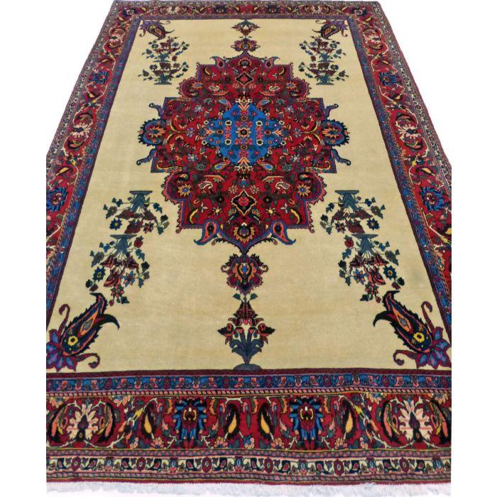 "https://www.armanrugs.com/   7' 3"" x 10' 2"" BeigeCamel Bakhtiari Handmade Wool Authentic Persian Rug"