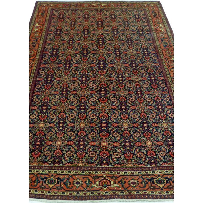 "https://www.armanrugs.com/ | 7' 5"" x 10' 11"" NavyBlue Tabriz Handmade Wool Authentic Persian Rug"