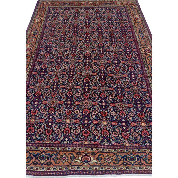 "https://www.armanrugs.com/ | 7' 4"" x 10' 11"" NavyBlue Tabriz Handmade Wool Authentic Persian Rug"