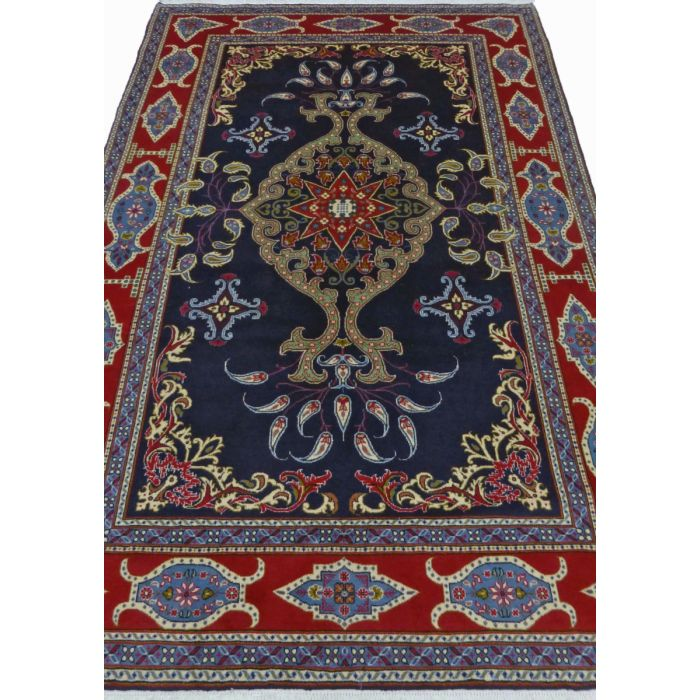 "https://www.armanrugs.com/ | 6' 7"" x 9' 10"" NavyBlue Tabriz Handmade Wool Authentic Persian Rug"