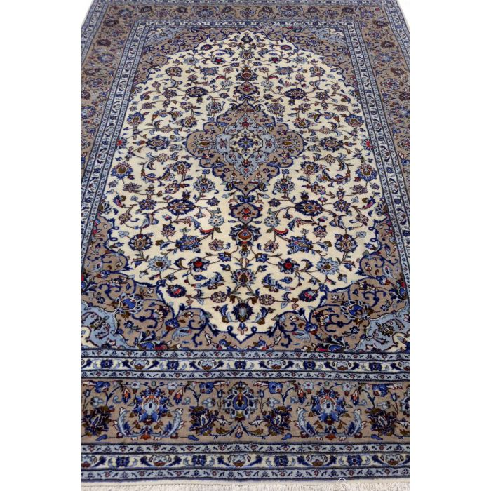 "https://www.armanrugs.com/ | 6' 9"" x 9' 12"" Beige Kashan Handmade Wool Authentic Persian Rug"