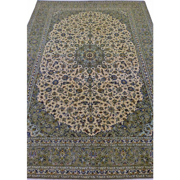 "https://www.armanrugs.com/   8' 0"" x 11' 7"" SageGreen Kashan Handmade Wool Authentic Persian Rug"
