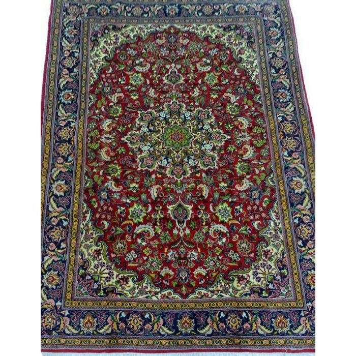 "https://www.armanrugs.com/ | 4' 10"" x 7' 1"" Red Kashan Handmade Wool Authentic Persian Rug"