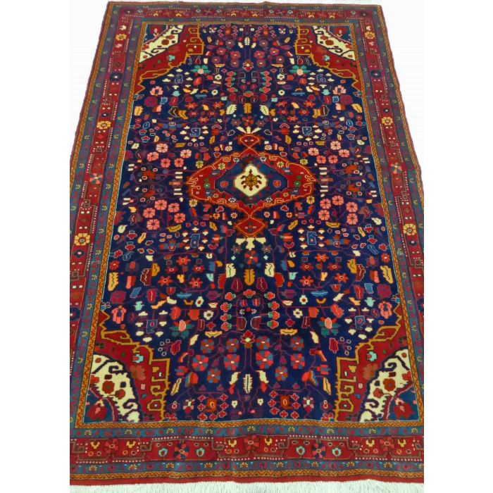 "https://www.armanrugs.com/ | 4' 6"" x 6' 11"" NavyBlue Jozan Handmade Wool Authentic Persian Rug"