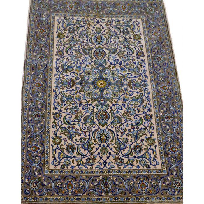 "https://www.armanrugs.com/ | 3' 9"" x 5' 9"" Beige Kashan Handmade Wool Authentic Persian Rug"