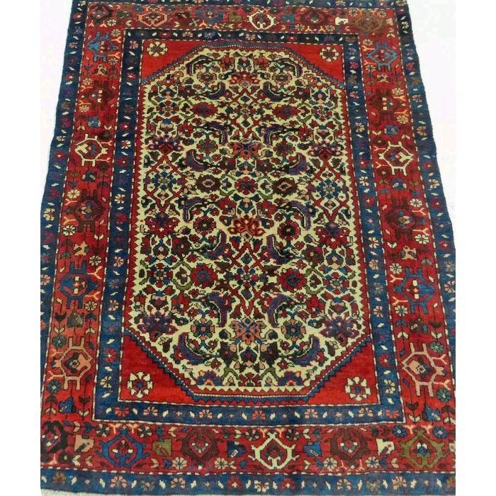 "https://www.armanrugs.com/ | 3' 7"" x 4' 11"" Beige Hamadan Handmade Wool Authentic Persian Rug"