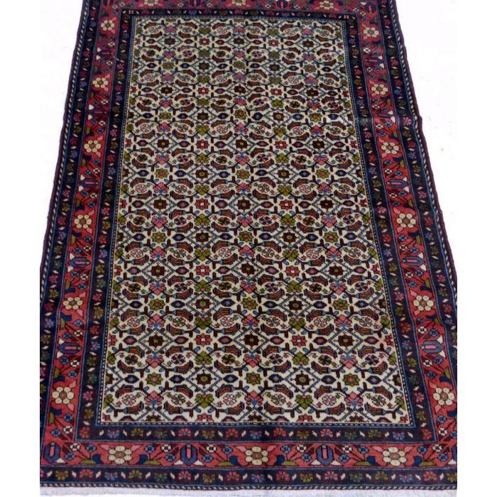 "https://www.armanrugs.com/   3' 6"" x 4' 11"" Beige Hamadan Handmade Wool Authentic Persian Rug"