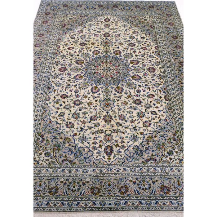 "https://www.armanrugs.com/ | 8' 1"" x 11' 5"" Beige Kashan Handmade Wool Authentic Persian Rug"