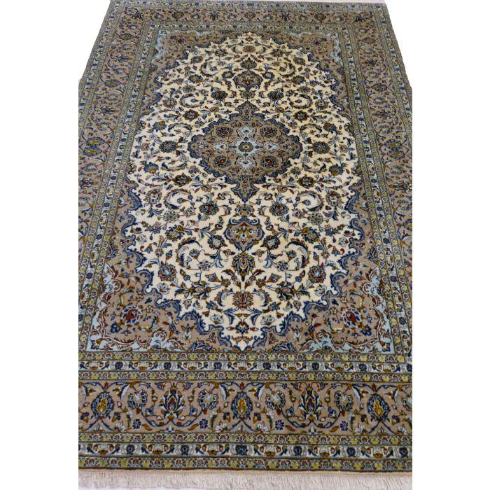 "https://www.armanrugs.com/ | 8' 0"" x 11' 10"" Brown Kashan Handmade Wool Authentic Persian Rug"