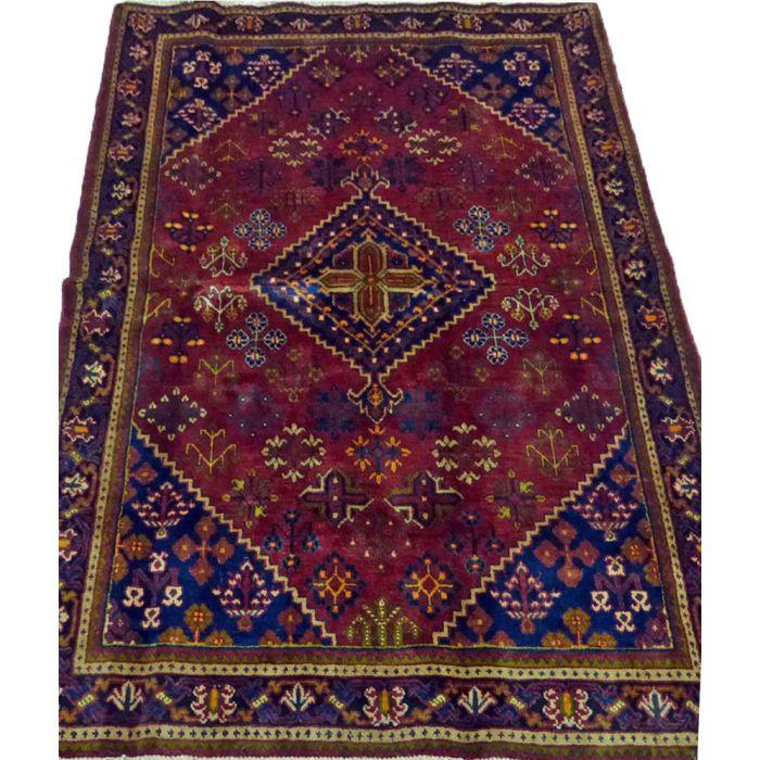 "https://www.armanrugs.com/   4' 5"" x 6' 8"" Red Josheghan Handmade Wool Authentic Persian Rug"