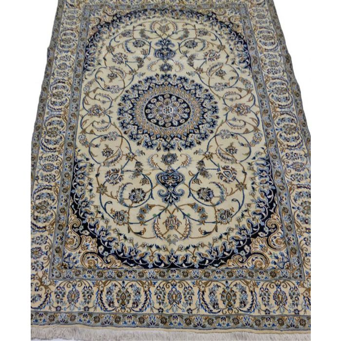 "https://www.armanrugs.com/ | 6' 4"" x 9' 10"" Beige Nain Handmade Wool-Silk Authentic Persian Rug"