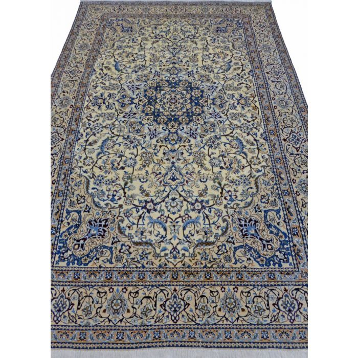 "https://www.armanrugs.com/   6' 8"" x 10' 1"" Beige Nain Handmade Wool Authentic Persian Rug"