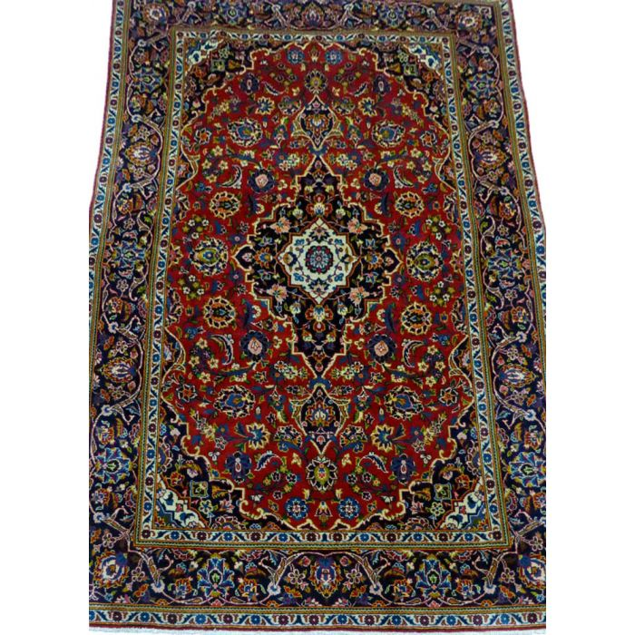 "https://www.armanrugs.com/ | 4' 6"" x 6' 11"" Red Kashan Handmade Wool Authentic Persian Rug"